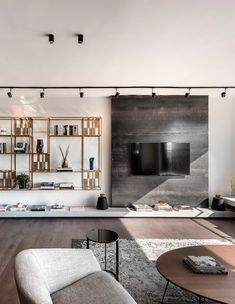 Living Room Designs, Living Room Decor, Tv Wall Decor, Partition Design, Kitchen Room Design, Bookshelf Styling, Loft Style, Luxurious Bedrooms, Interior Design Inspiration
