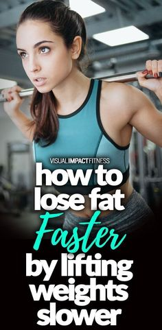 Slower Rep Speed for Greater Fat Loss? Fat Loss , , Slower Rep Speed for Greater Fat Loss? Recent study shows greater fat loss effects by purposely lifting at a slower rate. Strength Training Workouts, Weight Training, Weight Lifting, Losing Weight, Weight Loss Plans, Weight Loss Program, Weight Loss Tips, Athletic Outfits, Athletic Wear
