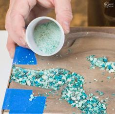 In this tutorial, I will show you how to make a cheese board with turquoise inlay. I'll also teach you how to make your own crushed turquoise from raw ore. Resin Crafts, Wood Crafts, Walnut Bedroom Furniture, Furniture Nyc, Furniture Websites, Mesquite Wood, Diy Cutting Board, Best Cheese, Diy Kitchen Decor
