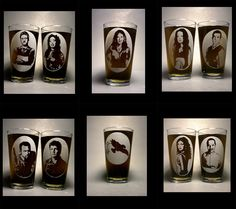 Firefly cast (plus Serenity) pint glasses /// already buy me these and I'll love you forever and ever