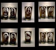 Firefly cast (plus Serenity) pint glasses