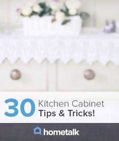 30 Kitchen Cabinet Tips & Tricks