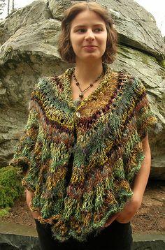 Ravelry: Feather 'n Fan Organic Wrap pattern by Jane Thornley