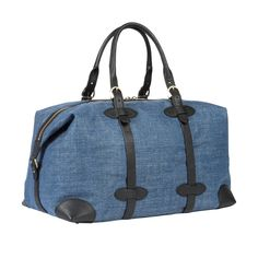 With its elegant design and spacious, fully-lined interior, this blue holdall in E.Thomas silk linen fabric is a go-to for those spontaneous getaways. Spring Summer 2015, Linen Fabric, Menswear, Blue, Silk, Interior, Design, Fashion, Elegant