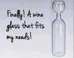 My type of wine glass! Haha