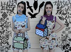 All about the No Frills Twins and these magical 3D cartoon bags