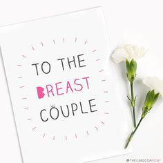 Funny Gay Lesbian Wedding Card 'To the Breast Couple'