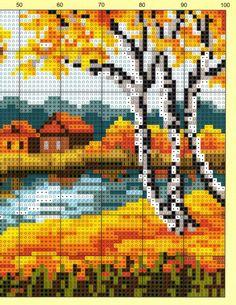 вышивка крестом пейзажи и природа схемы: 19 тыс изображений найдено в Яндекс.Картинках