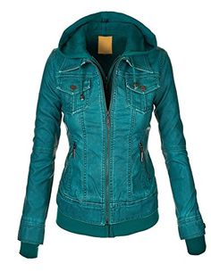 MBJ Womens 2-For-One Hooded Faux leather Jacket XL TURQUOISE Made By Johnny http://www.amazon.com/dp/B00W8ENBCK/ref=cm_sw_r_pi_dp_1Sinvb05W90BK