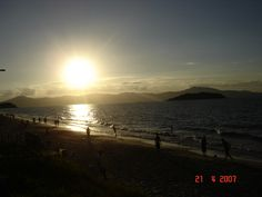 Entardecer na praia de Canasvieira, Florianópolis, SC