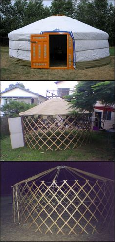 How To Build A Mongolian Yurt  http://theownerbuildernetwork.co/11th  Yurts were originally portable homes for nomads, but you can use one as a home office, a unique guest room or even as a permanent home!.  Surprisingly strong, yet inexpensive, they may just offer that solution you've been waiting for.