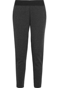 Adidas Performance - Stadium Cotton-blend Jersey Track Pants - Black