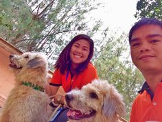 First family picture with Brazi and Graffi...  #Labradoodles #Dogs #PetLover #Happiness