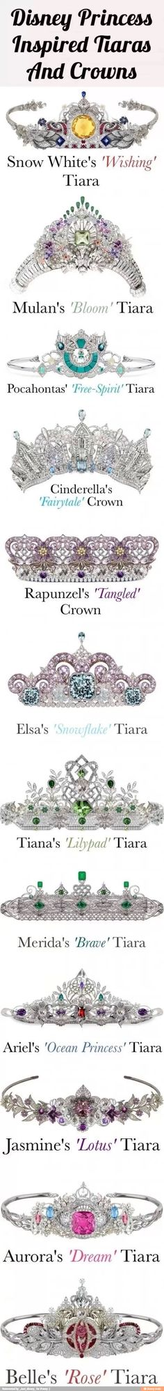 Look at these amazing Disney Princess inspired crowns!