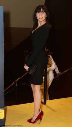 Role model: Known for her natural healthy curves,  Daisy gave a leggy display at the scree...