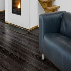 Black Carbonised Limed Oak Lacquered Engineered Wood Flooring 180mm x 20mm