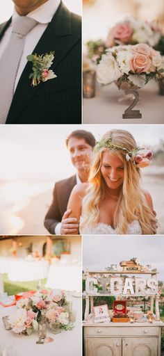 beautiful and unique beach wedding