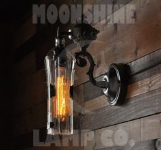 Recycled Bottle Lamp  St. Germain Wall Sconce