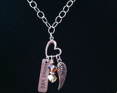 Marine Wife Angel Necklace Charms  $24 + 15% off coupon @GigglingHeavens @bonanzamarket