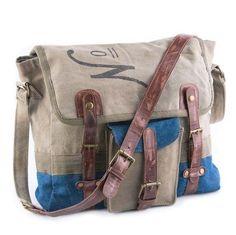 No. 181 - Reclaimed Canvas Messenger Bag
