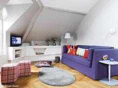 Visite d'un appartement : 31 m ² sous les toits - Le Journal de la Maison