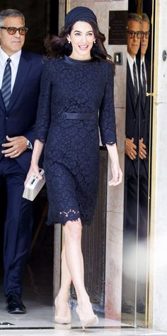 Look of the Day - Amal Clooney from InStyle.com