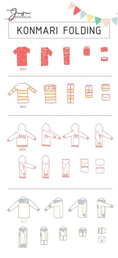 """""""Now that I have KonMari-ed all my clothes, how do I fold them correctly?"""" I am sure I am not the only one with this question. If you have seen my 10 illustrations that summarize the … organization Everything You Ever Need To Know About KonMari Folding Organisation Hacks, Storage Organization, Clothing Organization, Bathroom Organisation, Organizing Ideas, Bedroom Organization Tips, Kitchen Organization, Storage Ideas, Organising Tips"""