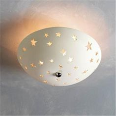 Star Ceramic Cutout Ceiling Light
