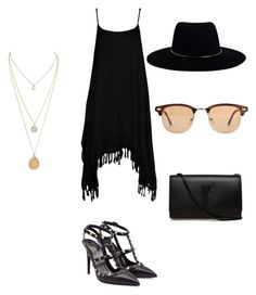 """Untitled #91"" by alexandragabriela2 on Polyvore featuring Boohoo, Valentino, Yves Saint Laurent, Zimmermann and Ray-Ban"