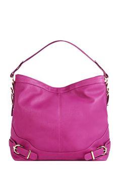 Pretty pink handbag.