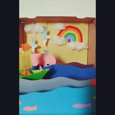 ♡☆¤¿ ¡ ○ We are heading to wonderland~¡♢can you spot the jumping fish? #rowrowrowyourboat #diy #singalong #pullleftright #recycled #lnhs #29m #kidscrafts #kidscrafts101 #earlylearning101 #toddleractivities #kidsactivities #craftylivingkids #ohlittlesthands #etkinlikkurdu #boat #sea #fish #wonderland #dream #paperart #papercraft #origami #kirigami #papercut #invitationtoplay #theatre