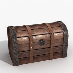 wooden chest 3d max