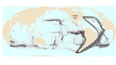 American Whaling Mapped (I find the red singularly  apropos)