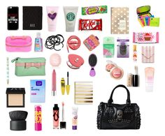 A fashion look from July 2015 featuring Iron Fist handbags, Knights and Roses clutches and Marc by Marc Jacobs tech accessories. Browse and shop related looks. Travel Bag Essentials, School Essentials, Purse Necessities, My Bags, Purses And Bags, Middle School Supplies, What's In My Backpack, Inside My Bag, School Survival Kits