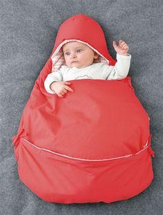 Süßer Ausfahrsack mit integrierter Wickelunterlage und Schlitze für den Sicherheitsgurt, ideal für den Autokindersitz.  #vertbaudet #Herbst #Winter #2015 #Kinderkleidung #Babymode