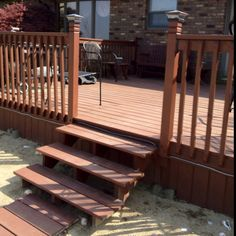 New entrance to deck, it was enclosed.