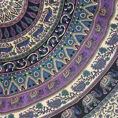 Elephant Medallion Mandala Wall Tapestry Bedspread