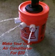 Make Your Own Air Conditioner For $20 I'm gonna try this when we go camping in July. May not be as fancy, but as long as it keeps us cool at night. That's the goal.