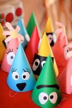 Yo Gabba Gabba Birthday  Man, I could make these so easily!