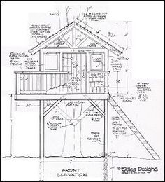 Tree House  Construction Drawing
