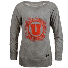 Crackled Utah Utes Crew Neck Sweater. #GoUtes #UniversityofUtah