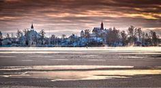 Helsinki, Finland, the Baltic sea.
