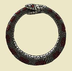 snake eating own tail ring