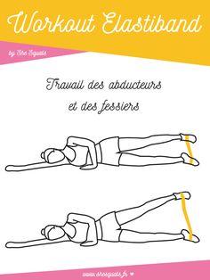 Galbez vos jambes et vos fesses avec l'elastiband. Un exercice rapide et facile à réaliser à la maison