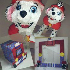 Piñatas Pet Patrol Marshall, Buzon para fiestas Pet Patrol, Marcos para fotos, Selfie Pet Patrol Marshall