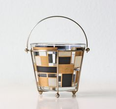 Mid Century Modern Ice Bucket van bellalulu op Etsy, $36.00