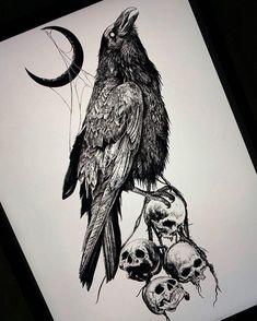 Tatto Skull, Skull Tattoo Design, Skull Art, Tattoo Designs, Nature Tattoos, Body Art Tattoos, Sleeve Tattoos, Norse Tattoo, Viking Tattoos