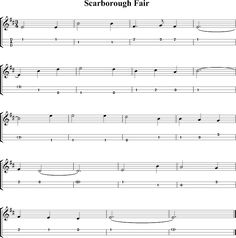 Scarborough Fair Sheet Music for Dulcimer