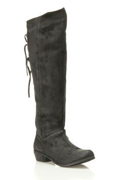 Naughty Monkey - Bullet Flat Boots In black, the ultimate pirate boot!