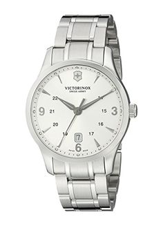 Men's Wrist Watches - Victorinox Swiss Army Alliance Silver Dial Mens Watch 241476 * See this great product.